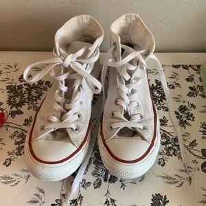 White converse high top 7